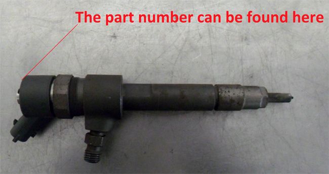Fuel injector serial number  Petrol and diesel cars parts guide